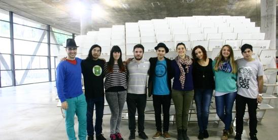 Parte del equipo de trabajo del festival